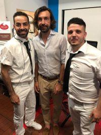 Il Duo Italiano mit Fußballspieler Andrea Pirlo